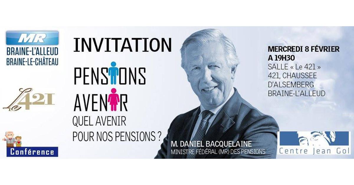 Conférence de M. Daniel Bacquelaine, Ministre des Pensions